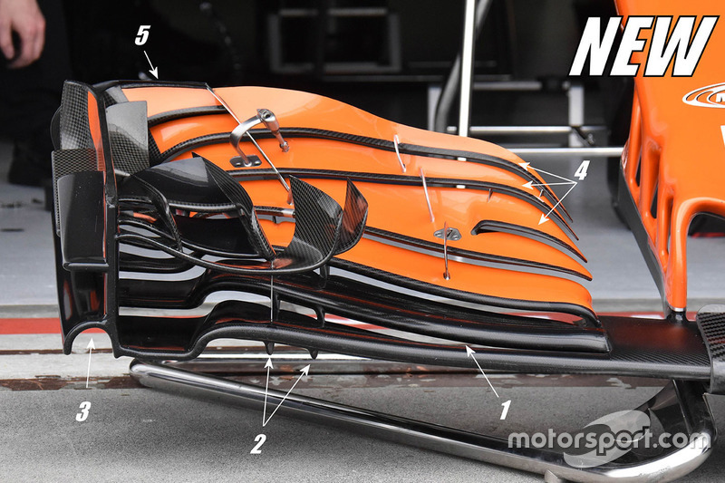 McLaren MCL32 new front wing detail