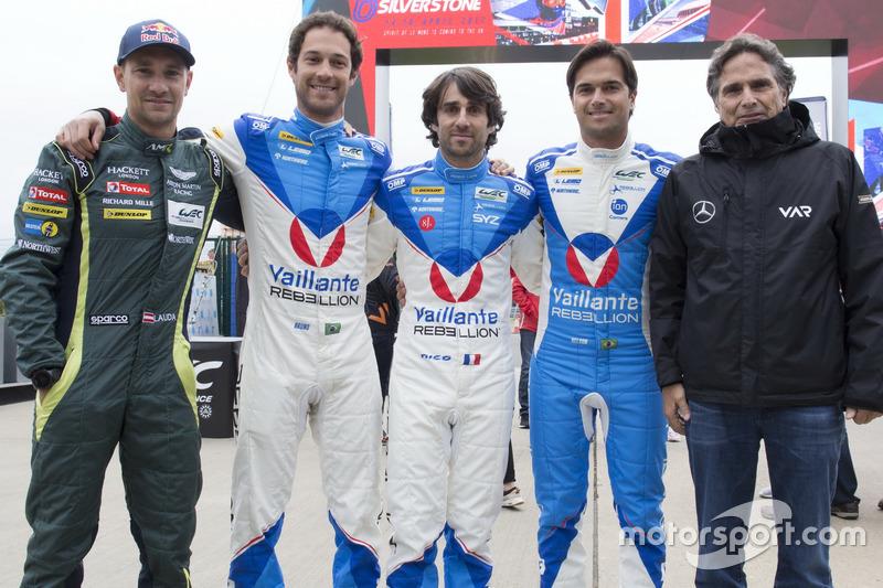 Mathias Lauda, Aston Martin Racing; Bruno Senna, Vaillante Rebellion Racing; Nicolas Prost, Vaillante Rebellion Racing; Nelson Piquet Jr., Vaillante Rebellion Racing; Nelson Piquet