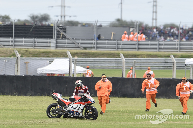 Accidente de Jorge Lorenzo, Ducati Team