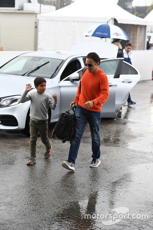 Felipe Massa, Williams, his son Felipinho Massa