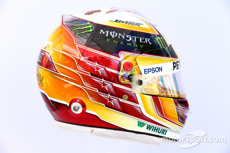 Casco de Lewis Hamilton, Mercedes AMG F1 W08