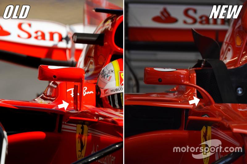 Ferrari SF70H espejos