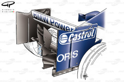 Williams FW27 2005 rear wing