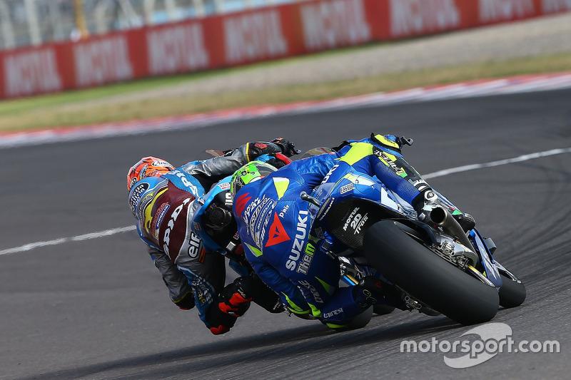Tito Rabat, Estrella Galicia 0,0 Marc VDS; Andrea Iannone, Team Suzuki MotoGP