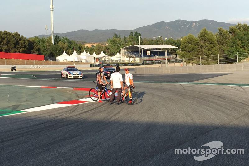 Шикана траси у Барселоні, Марк Маркес та Такео Йокояма, технічний директор Honda