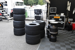 Pirelli tyre preparation area