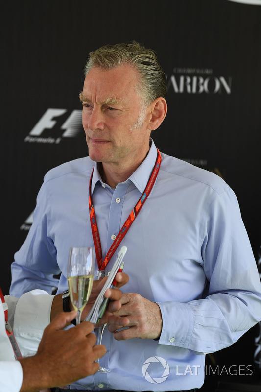 Sean Bratches, Formula One Director Comercial en la Carbon Champagne recepción de medios