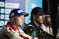 Felix Rosenqvist, Mahindra Racing, Jean-Eric Vergne, Techeetah, and Jose Maria Lopez, DS Virgin Racing, in the press conference