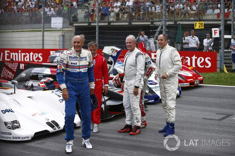 Hans-Joachim Stuck, Jean Alesi, Helmut Markko, Consultant, Red Bull Racing, Tom Kristensen and Gerha
