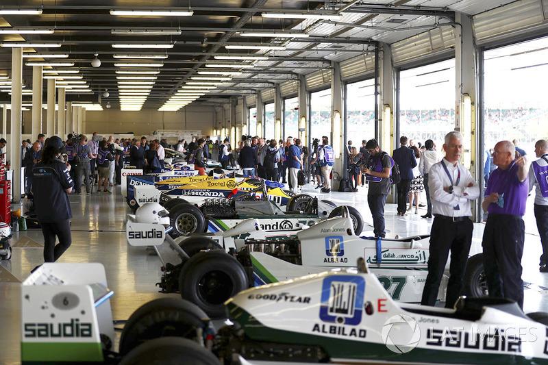 Una línea de maquinaria clásica de Williams F1