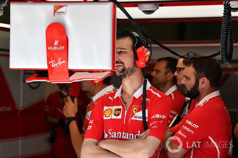Механіки Ferrari у боксах