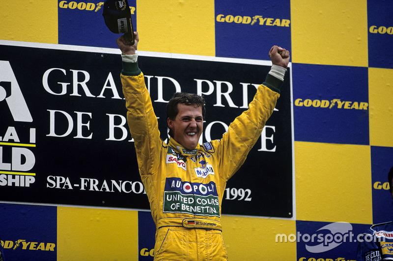 Подіум: Переможець гонки Міхаель Шумахер, Benetton