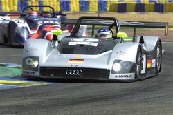 #7 Joest Racing Audi R8R: Lauren Aiello, Michele Alboreto, Rinaldo Capello