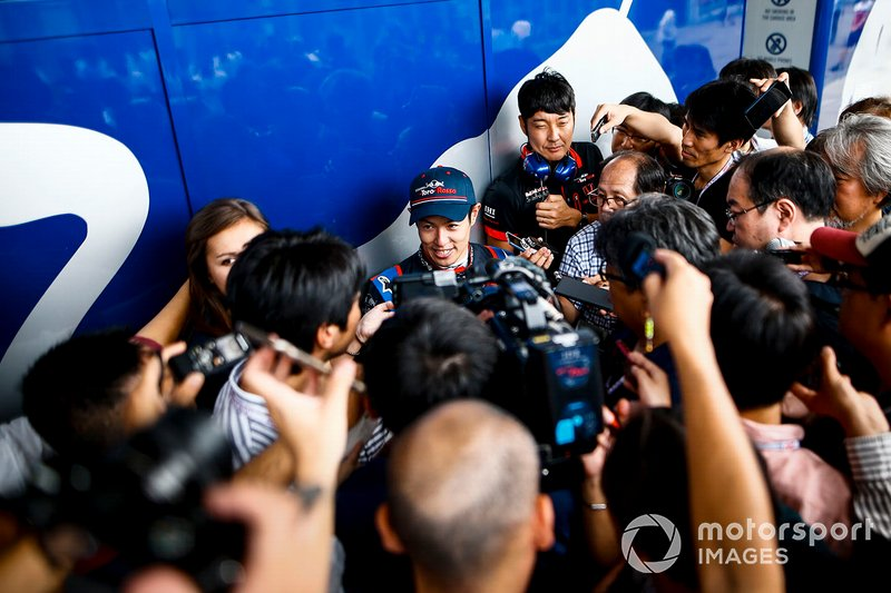 The Japanese media are keen to speak to Naoki Yamamoto, Toro Rosso, after his first F1 session