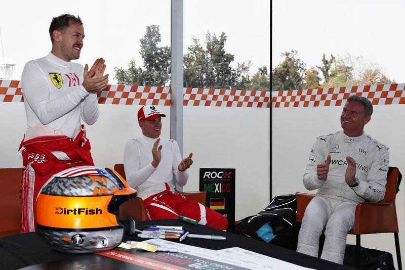 Sebastian Vettel, Mick Schumacher, David Coulthard