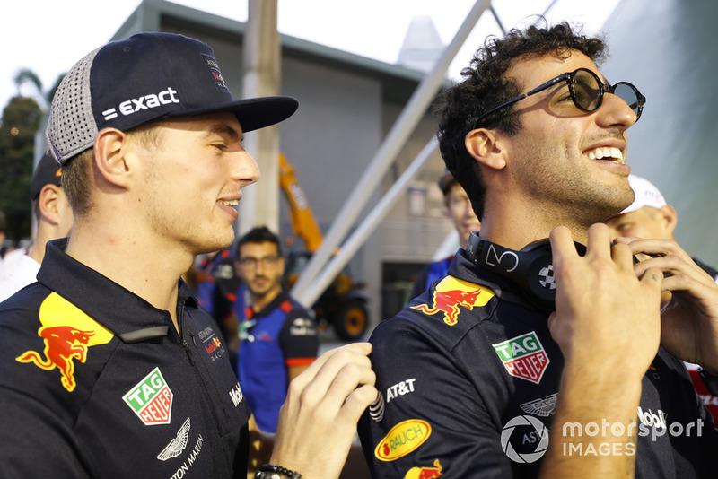 Макс Ферстаппен, Red Bull Racing, та Даніель Ріккардо, Red Bull Racing