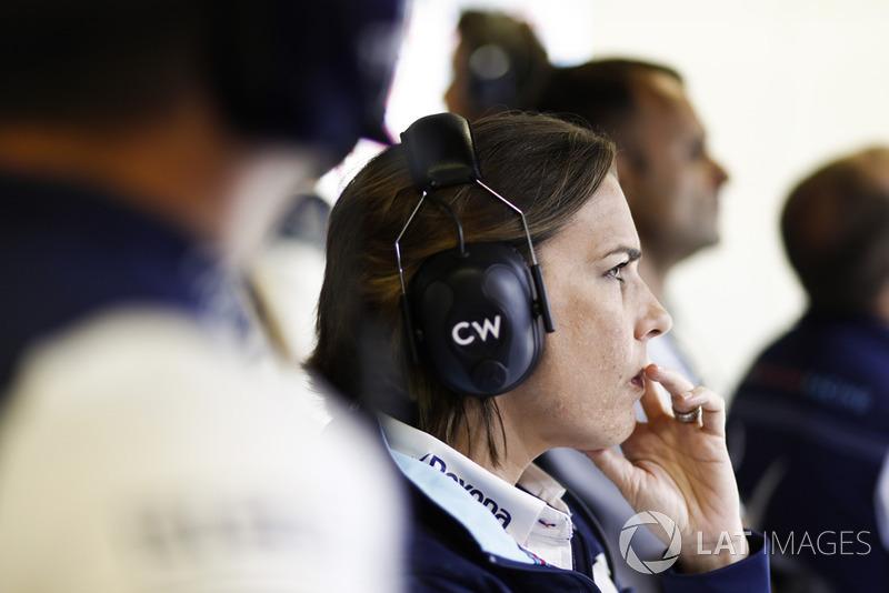 Claire Williams, directora de Williams Martini Racing
