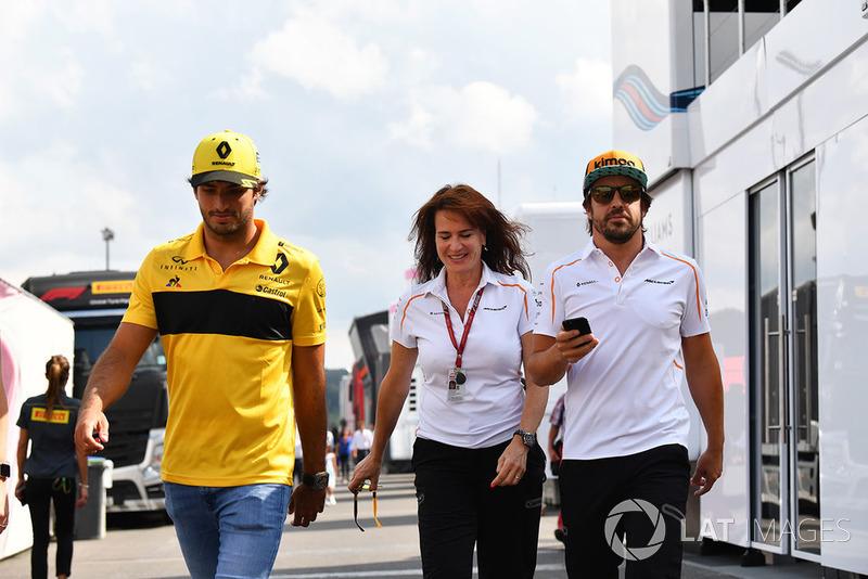 Carlos Sainz Jr., Renault Sport F1 Team, Silvia Hoffer Frangipane, McLaren y Fernando Alonso, McLaren