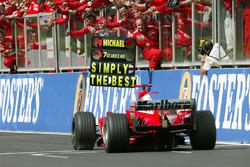 Segundo lugar y séptimo campeonato del mundo Michael Schumacher, Ferrari