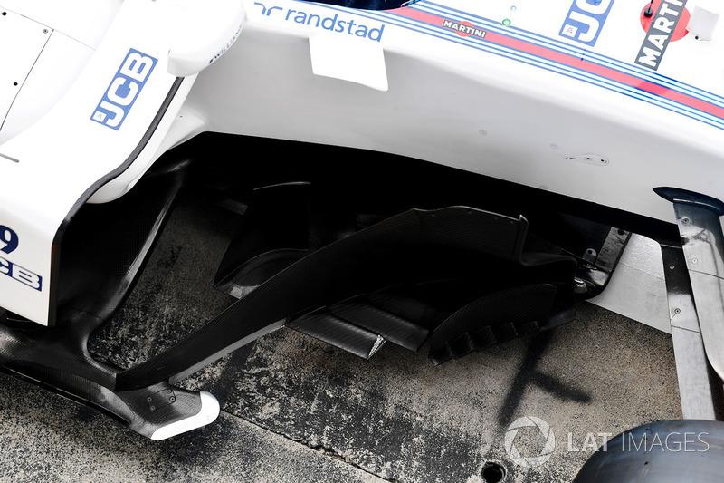 Detalle aerodinámico del Williams FW40