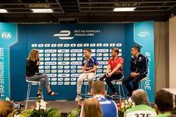 Basın toplantısı: Robin Frijns, Amlin Andretti Formula E Team,  Nick Heidfeld, Mahindra Racing, Sébastien Buemi, Renault e.Dams
