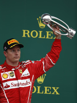 Podium: third place Kimi Raikkonen, Ferrari
