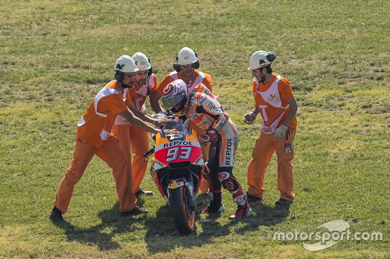 Marc Marquez, Repsol Honda Team tras su caída