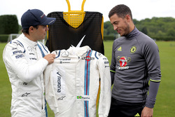 Felipe Massa, Williams ve Chelsea FC oyuncusu Eden Hazard