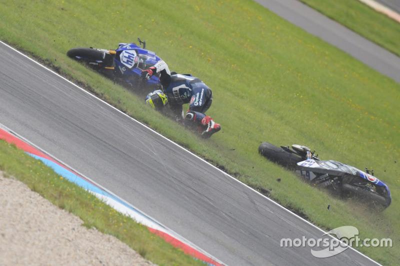 Crash von Federico Caricasulo, GRT Yamaha Official WorldSSP Team