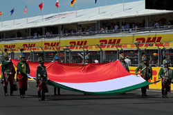 National Anthem is observed with Hungarian Flag on the grid
