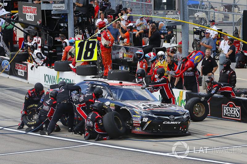 Kyle Benjamin, Joe Gibbs Racing Toyota pit stop