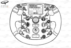 Ferrari F2007 steering wheel