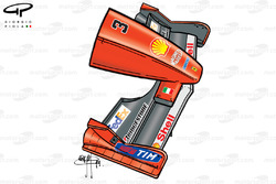 Ferrari F399 (650) 1999 Australian front wing and nose