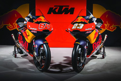 The bike of Niccolo Antonelli, Red Bull KTM Ajo and Bo Bendsneyder, Red Bull KTM Ajo