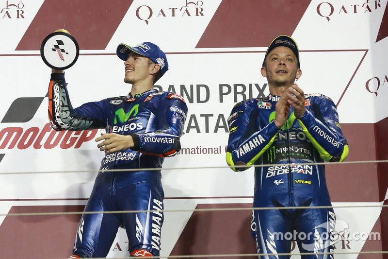 Podyum: yarış galibi Maverick Viñales, Yamaha Factory Racing; 3. Valentino Rossi, Yamaha Factory Racing