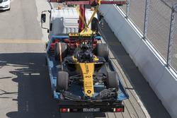 Разбитый RS17 Джолиона Палмера, Renault Sport F1
