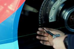 Detalle de montaje de freno y rueda