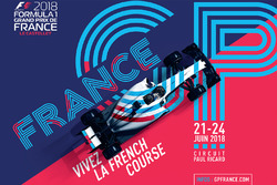 L'affiche officielle du Grand Prix de France 2018