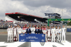 Groupshot, FIA Safety road action with Pierre Fillon, ACO President and Bratt Pitt