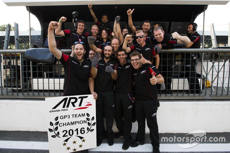 La ART Grand Prix festeggia la vittoria del Teams' Championship