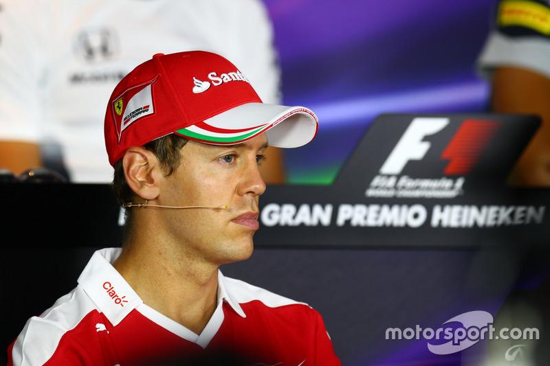 Sebastian Vettel, Ferrari in the FIA Press Conference