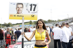 Grid girl of Miguel Molina Audi Sport Team Abt Sportsline, Audi RS 5 DTM