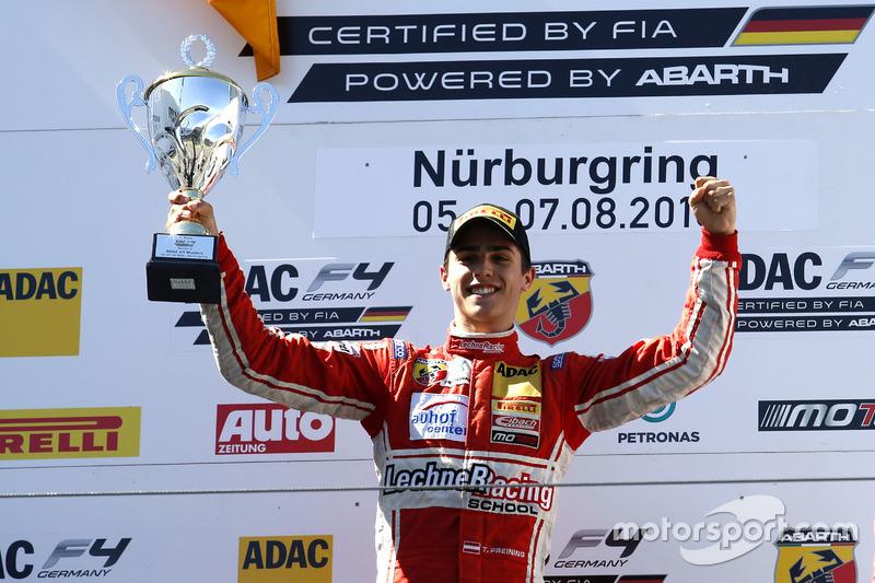Podio: il vincitore Thomas Preining, Lechner Racing