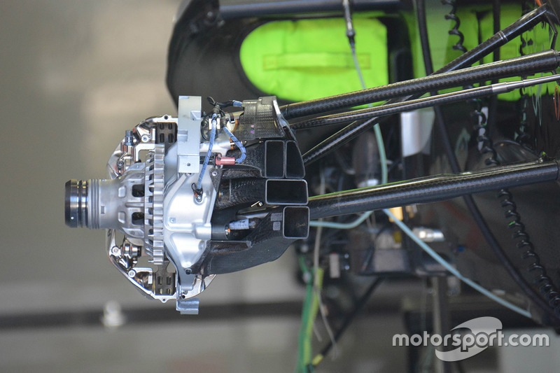 Force India F1 front brake detail