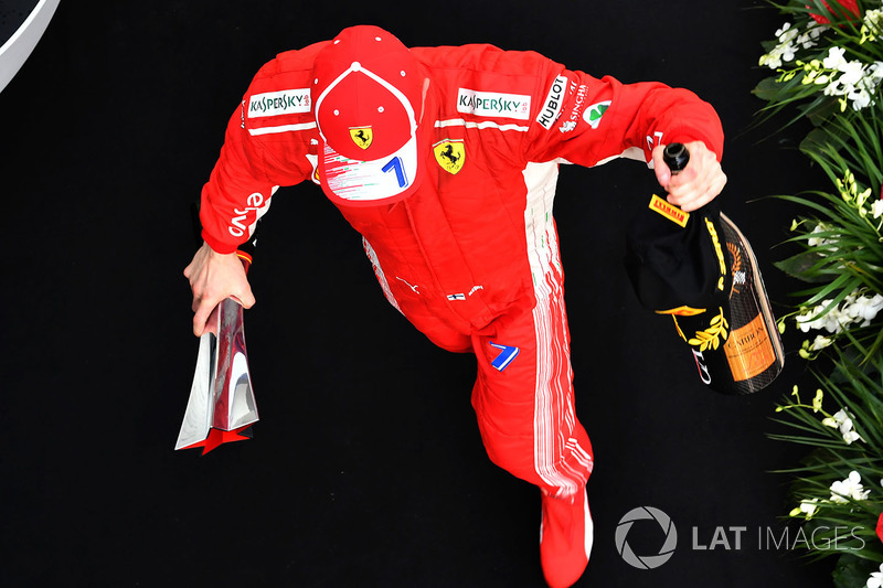 Selebrasi P3 Kimi Raikkonen, Ferrari