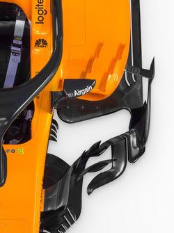 McLaren MCL33 detalle del sidepod