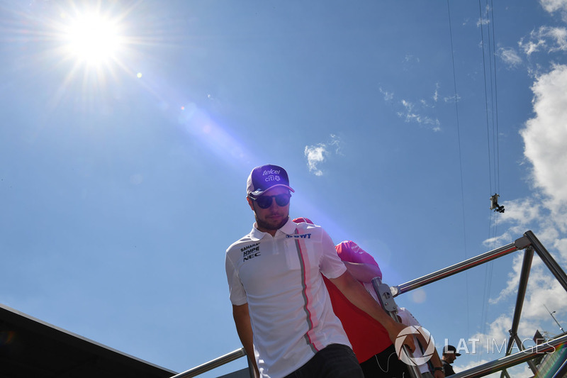 Sergio Perez, Force India on the drivers parade
