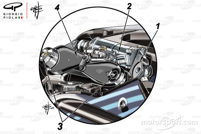 Mercedes W09, damper