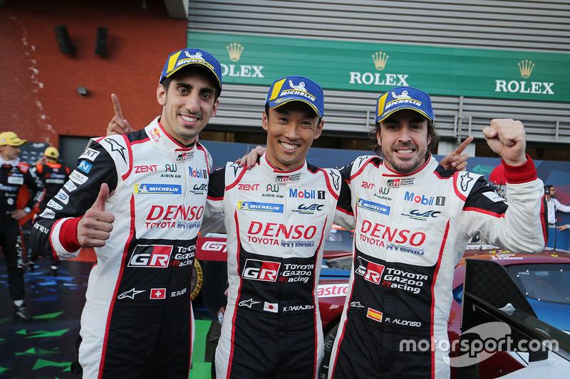 Juara ronde pembuka SPA: #8 Toyota Gazoo Racing Toyota TS050: Sébastien Buemi, Kazuki Nakajima, Fernando Alonso