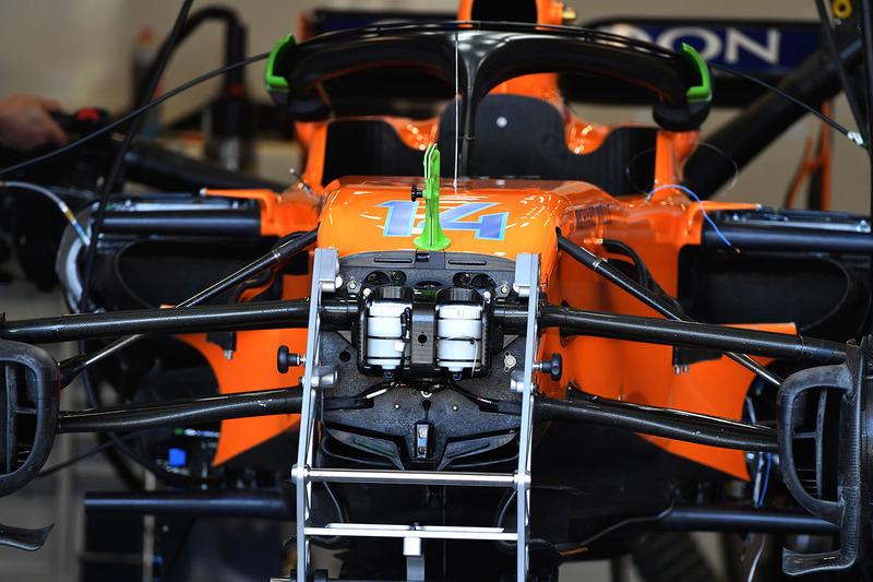 McLaren MCL33 ön süspansiyon veş asi detay